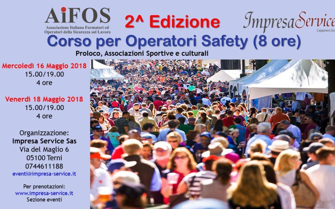"""2^ Edizione Corso di Formazione """"Operatori Safety"""""""