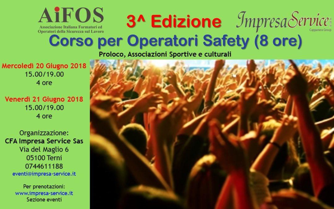 """3^ Edizione Corso di Formazione """"Operatori Safety"""""""